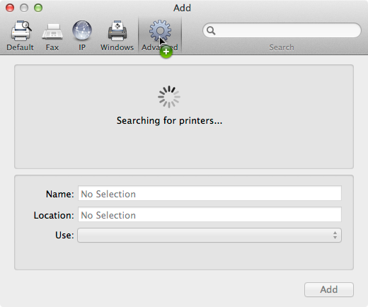 mac add printer pdf no printers listed